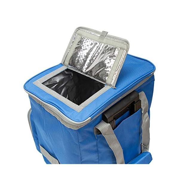 51eKOJC3vEL. SS600  - PAPILLON 5080126 Nevera Bolsa Termica 38 litros Azul Trolley