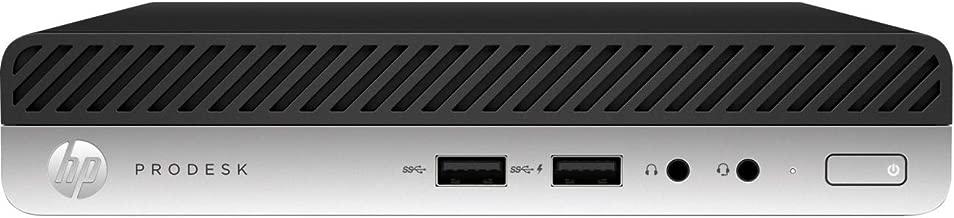 HP Business Desktop ProDesk 400 G4 Desktop Computer - Intel Core i5 (8th Gen) i5-8500T 2.10 GHz - 8 GB DDR4 SDRAM - 256 GB SSD - Windows 10 Pro 64-bit (English) - Desktop Mini - Black, Silver - Intel