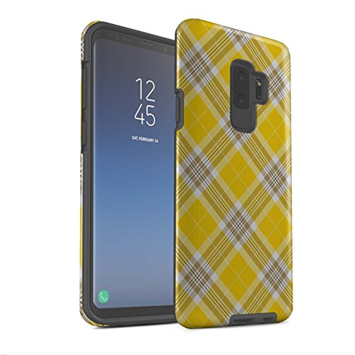 Stuff4 Phone Case/Cover/Skin/SG-3DTBM / Tartan Picnic Pattern Collection Samsung Galaxy S9 Plus/G965 geel