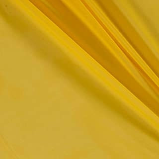 Ben Textiles Yellow Chiffon Solid Fabric by The Yard