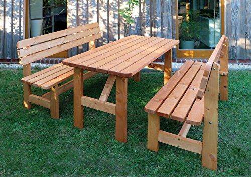 Promadino Holz-Garnitur Summer honigbraun