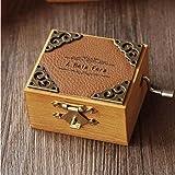 AOMOKC Caja de música de manivela Retro Caja de música de Madera Regalo de cumpleaños Creativo para Las Vacaciones (Incluido el tamaño del balancín de Aproximadamente 8,7 × 6 × 3,7Cm)