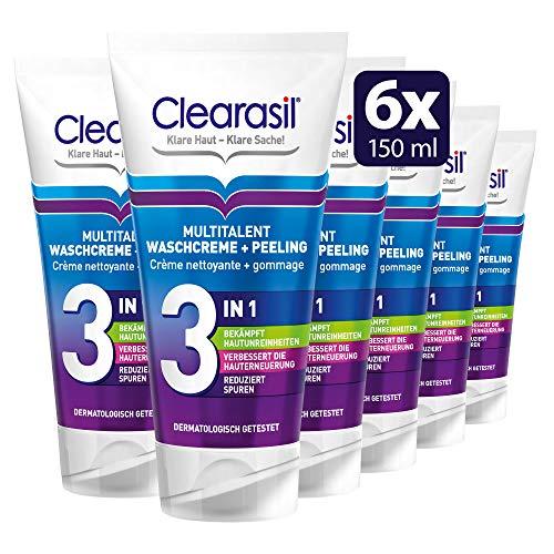 Clearasil Multitalent Waschcreme und Peeling, 6er Pack (6 x 150 ml)