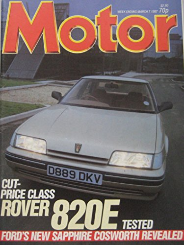 Motor magazine 7 March 1987 featuring Ford Sierra RS Cosworth, Rover, Mini...