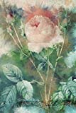 Rosa Centifolia Carnea: Floral Notebook with Flower Illustrations on Every Page