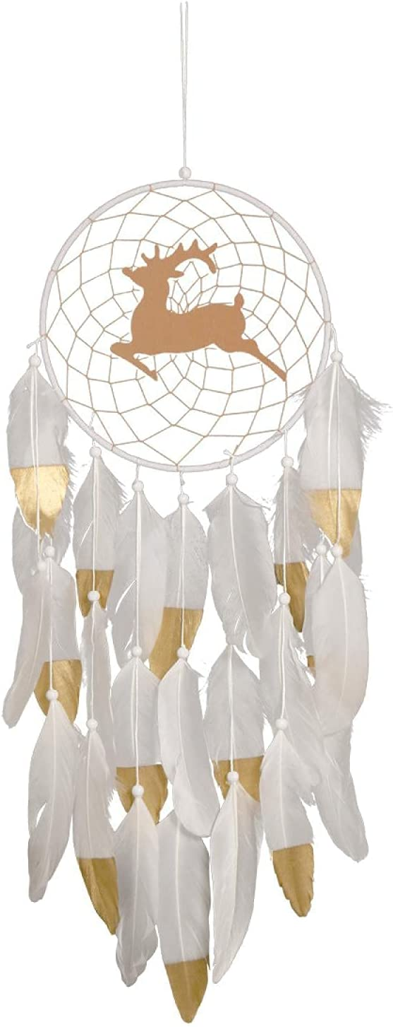White Max 78% OFF feather home decoration Year-end annual account moose wall Christmas fawn hanging