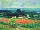 Impresionismo Artista Claude Monet Campos de Flores de Amapola Paisaje País Árbol Plantas Lienzo Pintura Arte de la Pared Póster Dormitorio Sala de Estar Oficina Estudio Decoración del hogar