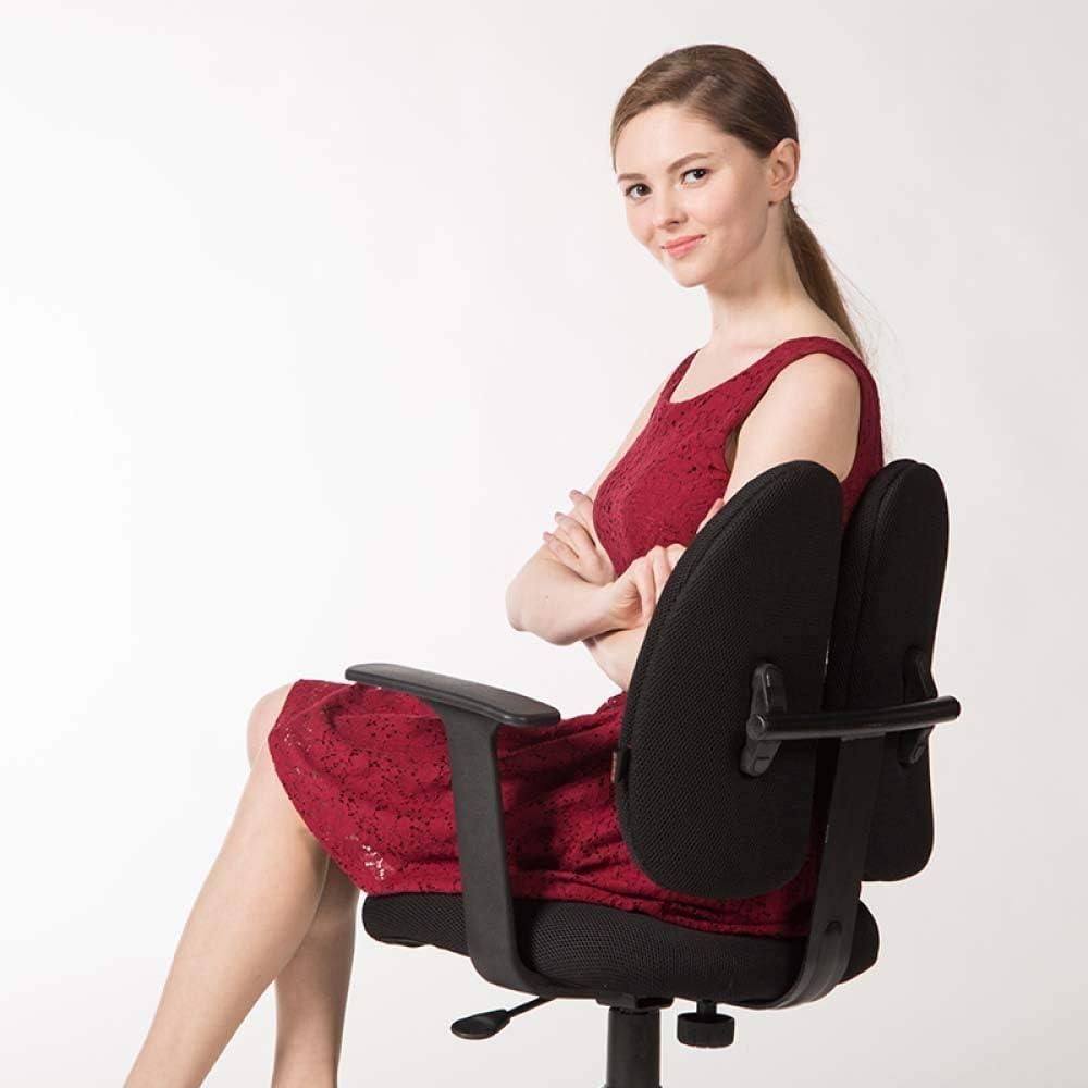 FXPCQC Chaises De Bureau pour La Maison Ergonomiques Confortables à La Maison à Dos Double Black