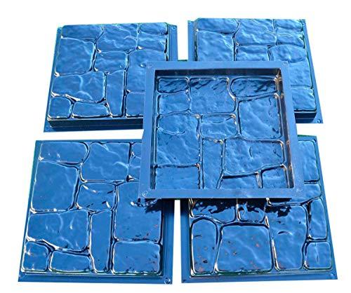 Betonex 5pcs PLASTIK MOLDS Casting Concrete Paving Garden Paths Pavement Stone Patio#S25