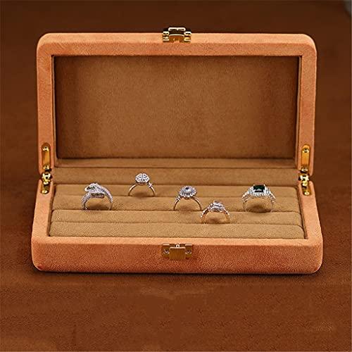 XYZMDJ Vetrina Porta Gioielli Vetrina portaoggetti Scatola portaoggetti per Orologio da Polso Scatola portaoggetti con Anello di Perle (Size : 20 * 11 * 5.5CM-B)