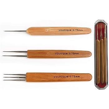 Tools Micro Hook Bamboo Handle Dreadlock Crochet Needles Hair Making Tools