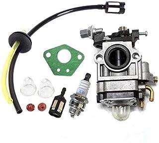 Queta, Carburatore per motore per decespugliatore 52 cc 49 cc 43 cc, kit carburatore con guarnizione, tubo, candela di acc...