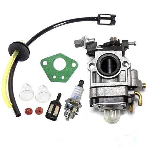 Queta Vergaser für Motorsense 52 cc 49 cc 43 cc, Carbu-Set mit Dichtung, Schlauch, Zündkerze und Benzinfilter