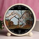 Alarm Clock, Bedroom Tabletop Retro Portable Clocks with Nightlight Custom designs Dinosaurs 184_Suchomimus tenerensis theropod dinosaur