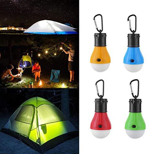 Zeltlicht, 4 Stück Wasserdichte LED Zeltlichter, Tragbares Campinglicht, Hängende Campinglampe, 3 Beleuchtungsmodi, 4 Stufig Einstellbare Helligkeit, Zeltlaternenlampe zum Wandern, Notlicht im Freien