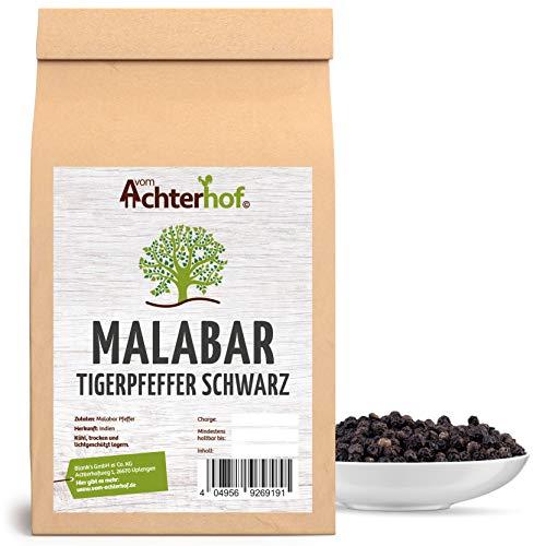 250 g Malabar Pfeffer schwarz ganz Tigerpfeffer schwarze Pfefferkörner von der Malabarküste