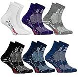 Rainbow Socks - Jungen Mädchen Sneaker Bunte Baumwolle Sport Socken - 6 Paar - Weiß Lila Grau Blau Marino Schwarz Jeans - Größen 30-35