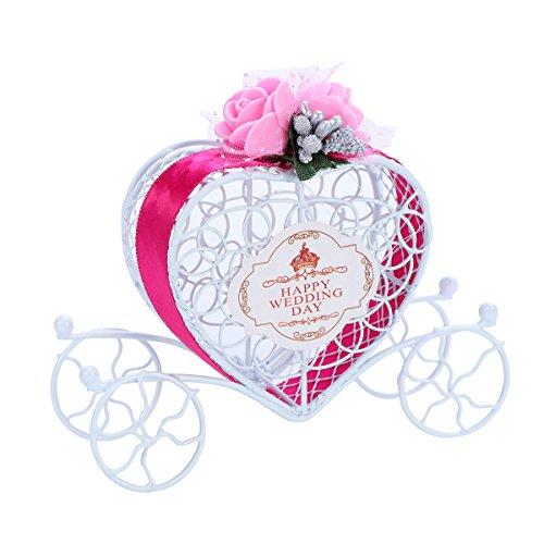 Toyvian Caja de Regalo Hueca del Chocolate del Carro del Hierro de la Caja del Caramelo para Casarse a la Fiesta de cumpleaños