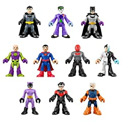 Create action-Packed adventures with this Imaginext DC Super Friends figure set featuring 10 Super-Hero and Super-Villain figures Includes 10 figures, including Batman, Superman, Catwoman, The Joker, Two-Face, Lex Luthor, and more! Each figure comes ...