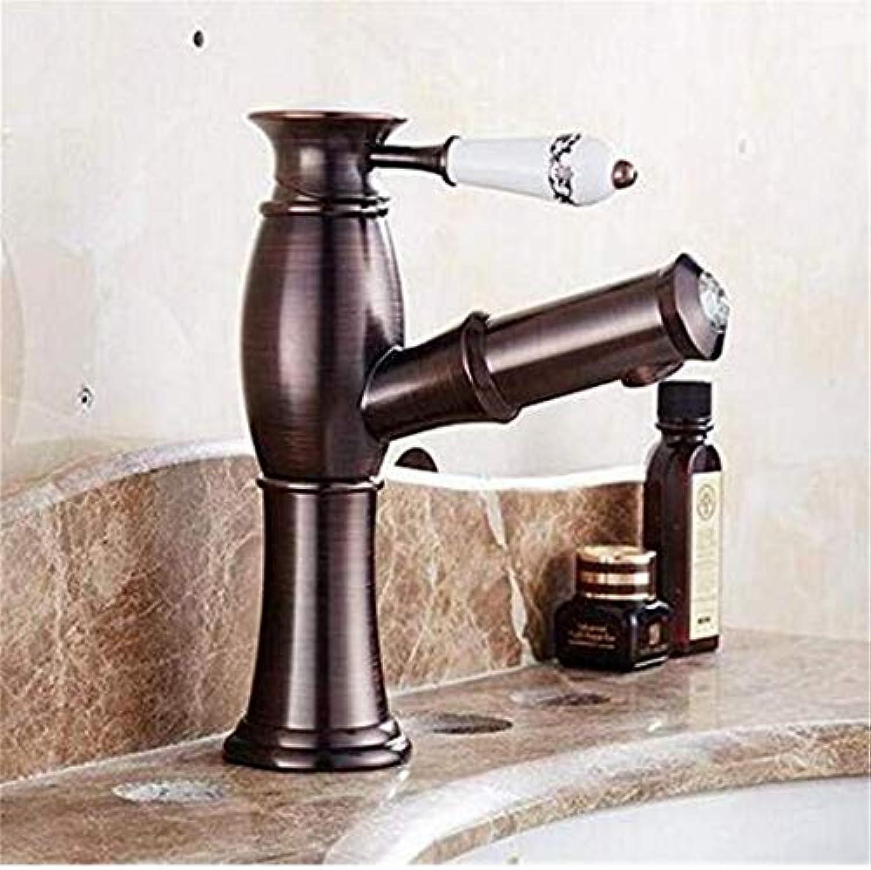 Warmes und kaltes Wasser Messing Chrom Küche Home Küche und Waschbecken Wasserhhne Retro Alle Kupfer Heie und kalte Spüle Becken Wasserhahn