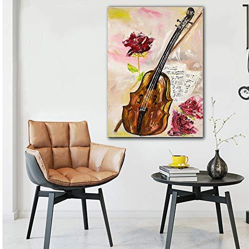 baodanla Geen frame Verkoop roos en viool HD canvas voor woonkamer moderne home wall art foto