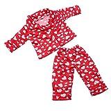 Baoblaze Modischer Puppen Schlafanzug Pyjama Hausanzug Jacke und Hose Set für 18 Zoll Mädchen...