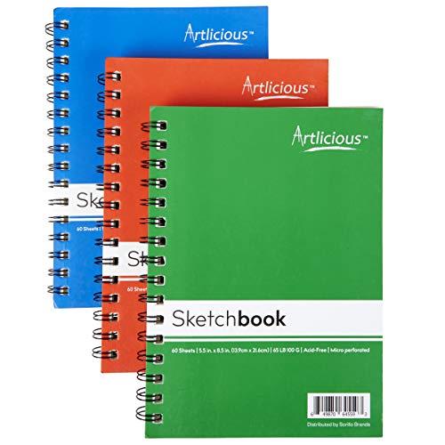 Artlicious - 3 Sketch Books 5.5