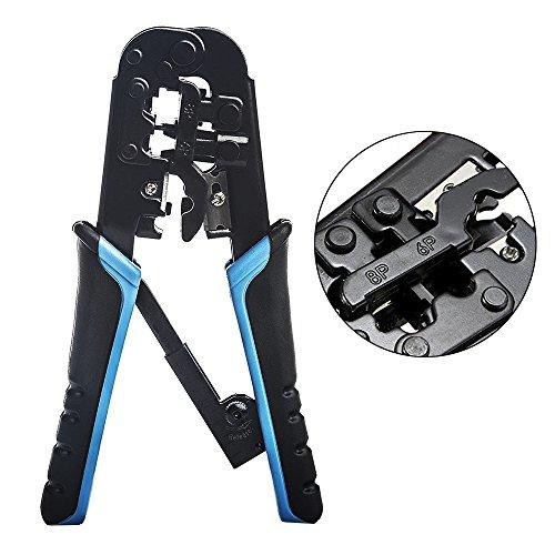 Ealona Cat5 Cat6 Ethernet Crimping Tool UTP RJ45 RJ12 RJ11 Crimper Cutter Stripper