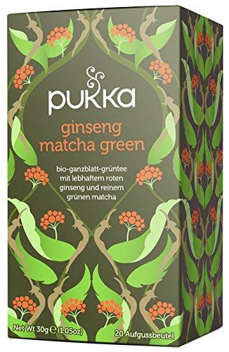 Pukka té–ginseng Matcha té verde 20bolsas de té