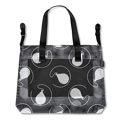 ABC Design Einkaufstasche - Zubehör für Kinderwagen & Buggy - große Tasche mit viel Stauraum - Farbe: black
