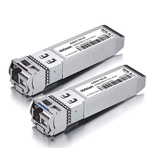 a Pair of 10G SFP+ Bidi Transceiver, 10GBase-BIDI 1270nm/1330nm SMF, up to 10-20 km, Compatible with Cisco SFP-10G-BXD-I/SFP-10G-BXU-I, Ubiquiti, Mikrotik, Netgear, D-Link and More