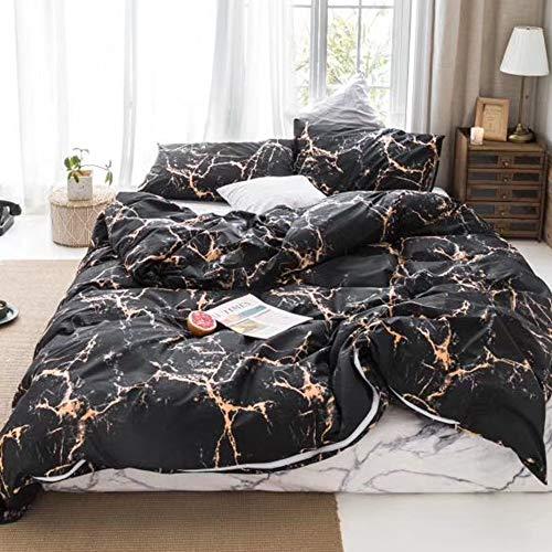 Karever Kinder-Bettwäsche-Set, Baumwolle, wendbar, für Jungen und Mädchen Marokkanisch Twin Goldfarbene Textur