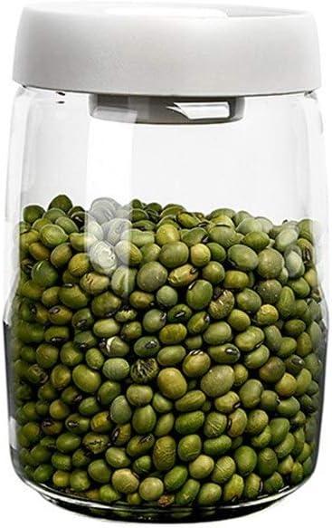 Storage jars 2021 model Glass Kitchen Jar Airtight Co Big Capacity Max 78% OFF
