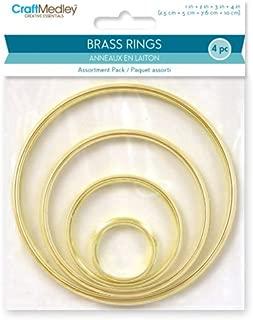 Craft Medley WR099 3 Piece Assorted Brass Rings, 2