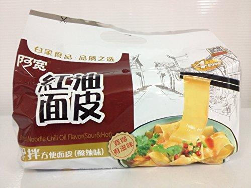 紅油麺皮『インスタント麺』 酸辣味 4袋入