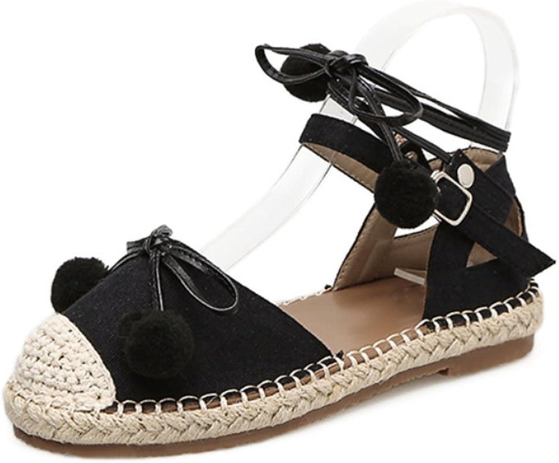 ZLIDS Frauen Stroh Sandale Rmischen Knchelriemen Lace-Up Flache Ferse Stroh Schuhe Casual Vintage