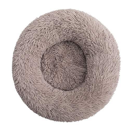 Decdeal Cama de Gato Donut Base Cama Redonda Impermeable Antideslizante Lavable a Máquina Duradera para Mascotas Cama de Lujo Mullida para Perros Cachorros Gatitos Tamaño Seleccionable