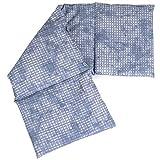 Almohada térmica compartimentada en 4 con huesos de cerezas 60x20cm - Saco térmico para microondas - Calor y frío - Cojín térmico con semillas (Color: used look gris azulado)