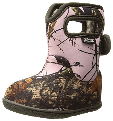 Bogs Baby Bogs Waterproof Insulated Toddler/Kids Rain Boots for Boys and Girls, Camo Print/Pink Mossy Oak Country, 10 M US Toddler