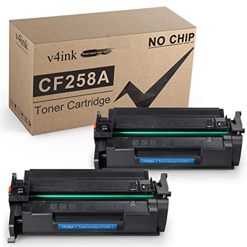 Price comparison product image v4ink Compatible Toner Cartridge Replacement for HP 58A CF258A Toner use for HP Laserjet Pro M404dn M404n M404dw,  Laserjet Pro MFP M428fdw M428fdn M428dw,  M304 Printer 2-Pack Black Without CHIP