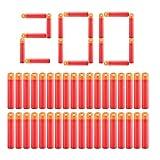 POKONBOY Darts Compatible with Nerf Mega Darts - 200 Pack Red Darts Compatible with N-Strike Mega Series