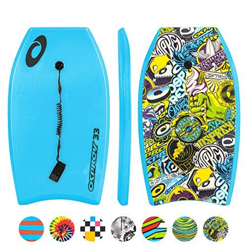 Osprey Aufkleber Body Board Slick mit Leine Gurt, Unisex, Stickers, blau, Size 33