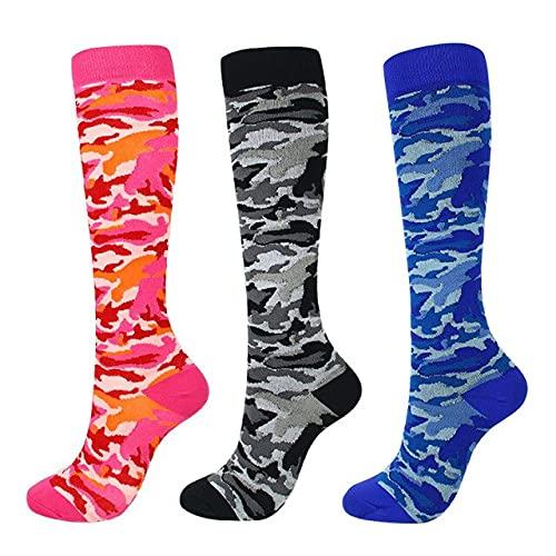 IAMZHL Calcetines deportivos al aire libre para hombres y mujeres, calcetines deportivos de compresión (20-30 mmHg) calcetines elásticos varicosos - 4,36-44
