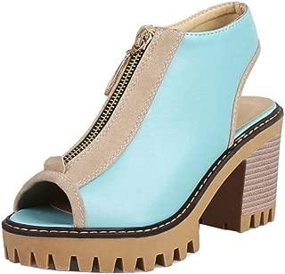 MisaKinsa Women Fashion Block High Heel Sandals