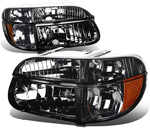 4PCs Smoked Housing Amber Corner Headlights Bumper Lights Replacement for Ford Explorer 95 01 product image