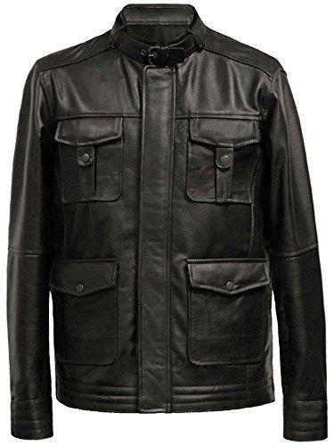 Leatherbox -  Giacca - Impermeabile - Uomo nero Large