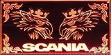 Scania LED-Leuchtschild mit bösem Greif, 60x30cm ✓ LKW Rückwandschild ✓ Ideale Geschenkidee...
