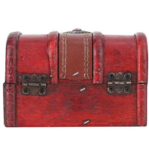 Caja de madera vintage, joyero de madera, elegante vintage que evita el polvo para el hogar, escritorio, regalo, almacenamiento de cosas, mesa de oficina