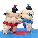 Professional Wrestling Sumo Suit Adult Pair Wrestler Dress Sport Entertainment Costume; 2 Suits Set (Beige)