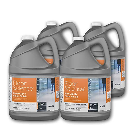 Diversey Floor Science Professional Easy-Apply Floor Finish, 1 Gallon - Covers up to 2,500 SQ FT (4 Pack)